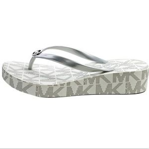 Michael Kors Bedford Wedge Flip Flop Sandal Shoes